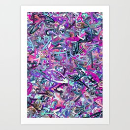 Randomised Alphabet Letters Colors Art Print