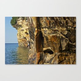 Cliff  Climbing Canvas Print