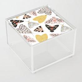 Moth's Diverse Beauty Pattern Acrylic Box