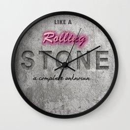 Like a rolling stone Wall Clock