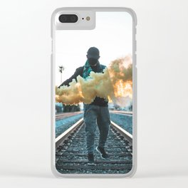 Los Angeles Renegade Smoke Grenade Clear iPhone Case