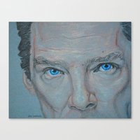 cumberbatch Canvas Prints featuring Cumberbatch by Artfully Alexa