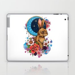 Neo Traditional Rabbit and Moon Laptop & iPad Skin