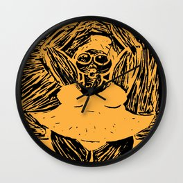 Dancing Queen Yellow and Black Wall Clock