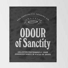 Odour of Sanctity Throw Blanket