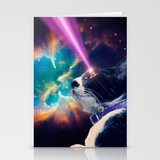 Neko San in Space Stationery Cards