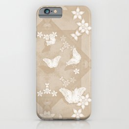 Dreamy butterflies and mandala in iced coffee iPhone Case