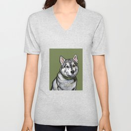 Aspen the Husky Unisex V-Neck