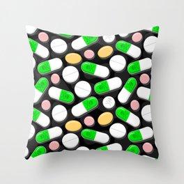 Deadly Pills Pattern Throw Pillow