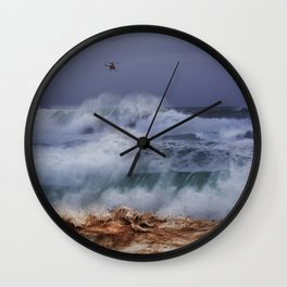 Monster Waves At Pipeline 18 Wall Clock