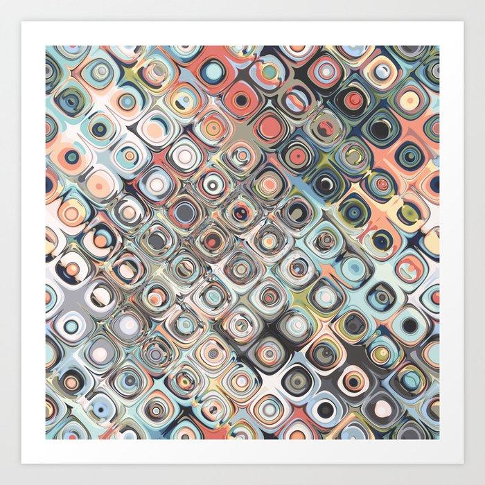 Geometric Pastels Pattern Art Print