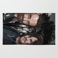 daryl Area & Throw Rugs featuring TWD Rick and Daryl  by Akyanyme