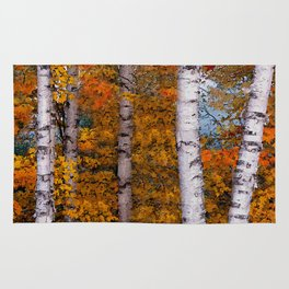 Birch Trees #2 Rug