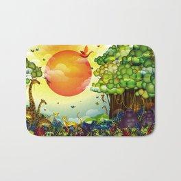 Jungle of colors Bath Mat