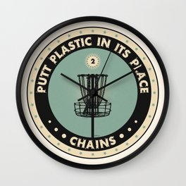Putt Plastic In Its Place Wall Clock
