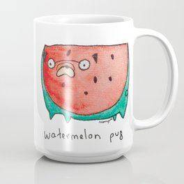 Watermelon Pug Coffee Mug