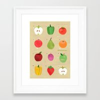 fruit Framed Art Prints featuring Fruit by Jessie Ford