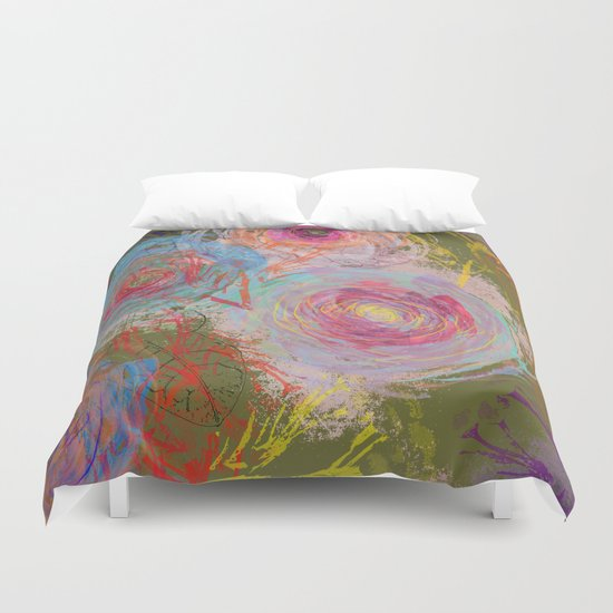 Floral abstract(38) Duvet Cover