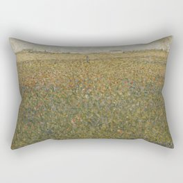 Georges Seurat - La Lucerne Rectangular Pillow