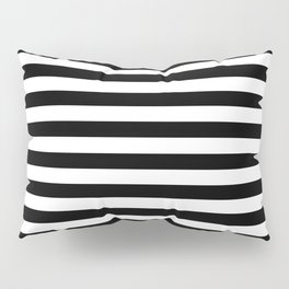 Abstract Black and White Stripe Lines 8 Pillow Sham