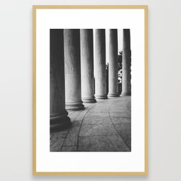 Dark Columns Framed Art Print