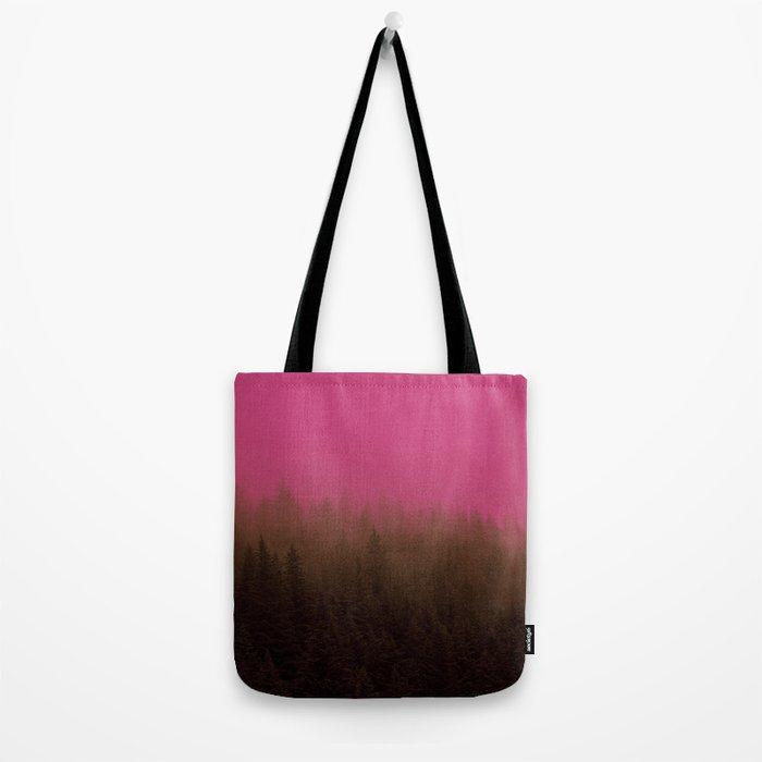 Pink & Chocolate Taffy Fog - Seward, Alaska Tote Bag