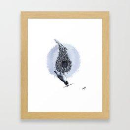Weaver Bird Framed Art Print