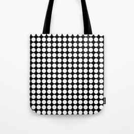 Black and white polka dot pattern . Tote Bag