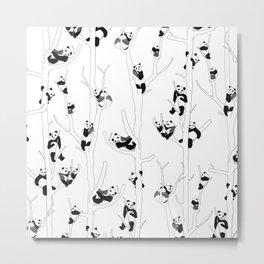 Panda Forest Metal Print