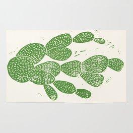 Linocut Cactus #1 Rug