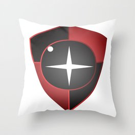 Red Black Sight Throw Pillow