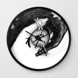 Yin and Yang Wall Clock