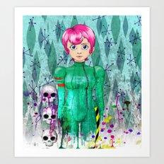 Portrait of 42 in Astro-Grunge Art Print