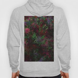 Purple Warfare - Abstract purple, pink, green and black abstract Hoody