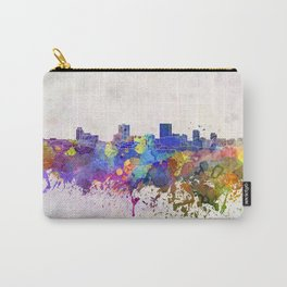 Anchorage skyline in watercolor background Carry-All Pouch