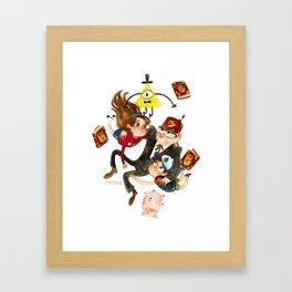 Gravity Falls Hug Framed Art Print