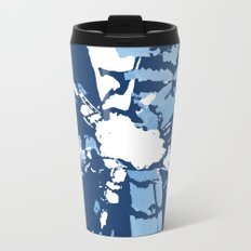 Blue Shibori tie-dye Metal Travel Mug