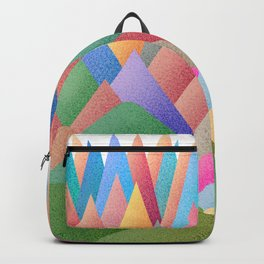 041 Owly climbing succulent mountain pattern Backpack