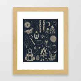 Into the Woods: Stargazing Framed Art Print