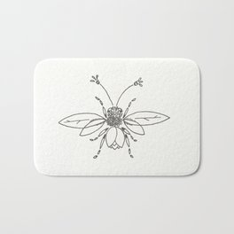 Bee-tanical Bath Mat