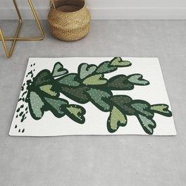 anti valentines cactus Rug