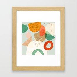 mid century modern abstract design III Framed Art Print