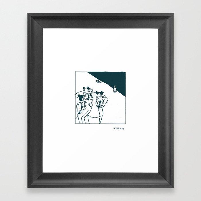 Pilots' Lounge Framed Art Print