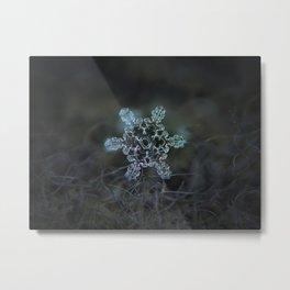 Real snowflake macro photo - Slight Asymmetry Metal Print