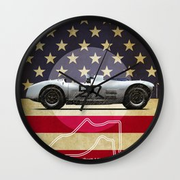 Cunningham at Sebring Vintage Wall Clock
