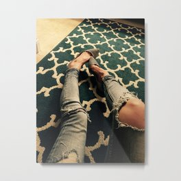 Feet on the Carpet Metal Print