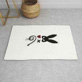 bdsm couple sadomaso mask whip Bunny ears Present Rug