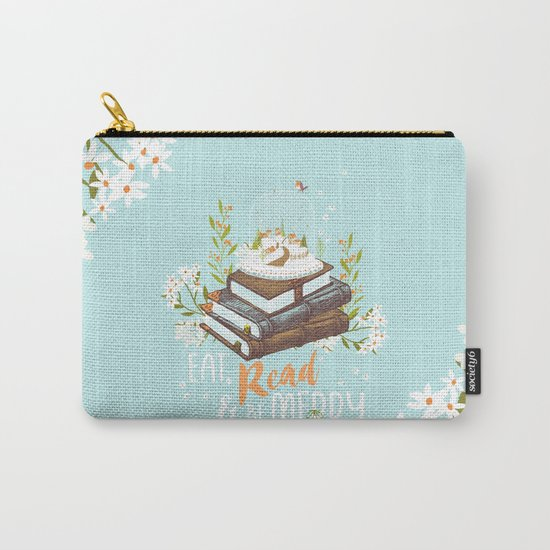 Eat, Read & Be Merry - Globe Carry-All Pouch