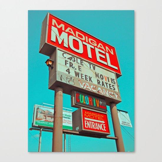 Retro signage Canvas Print