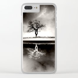 SOLITARY REFLECTION Clear iPhone Case